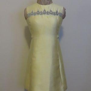 Vintage Gino Charles yellow dress 2/4 Small